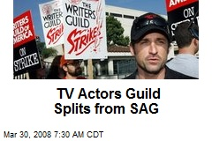 TV Actors Guild Splits from SAG