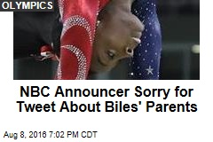 NBC Announcer Sorry for Tweet About Biles' Parents