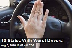 10 States With Worst Drivers