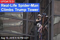 Real-Life Spider-Man Climbs Trump Tower