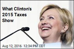 Pressuring Trump, Clinton Releases 2015 Taxes