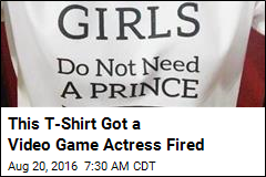 This T-Shirt Got a Video Game Actress Fired