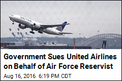Government Sues United Airlines on Behalf of Air Force Reservist