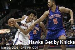 Hawks Get by Knicks