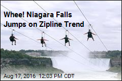 Whee! Niagara Falls Jumps on Zipline Trend