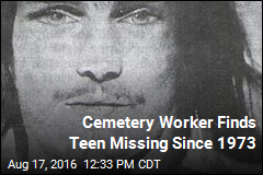 Cemetery Worker Finds Teen Missing Since 1973