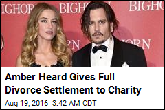 Amber Heard Gives Full Divorce Settlement to Charity