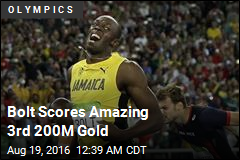 Bolt Scores 3rd Straight 200M Gold