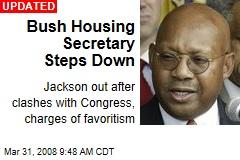 Bush Housing Secretary Steps Down