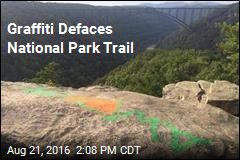 Graffiti Defaces National Park Trail