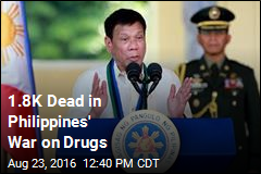 1.8K Dead in Philippines' War on Drugs