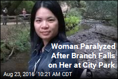 Woman Paralyzed After Branch Falls on Her at City Park