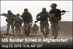 US Soldier Killed in Afghanistan