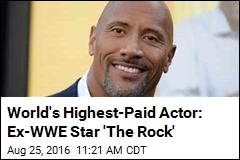 World's Highest-Paid Actor: Ex-WWE Star 'The Rock'