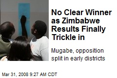 No Clear Winner as Zimbabwe Results Finally Trickle in