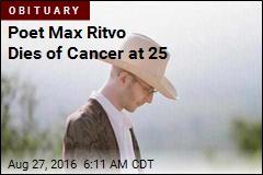 Poet Max Ritvo Dead at 25