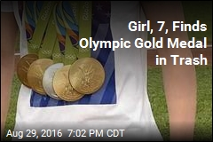 Girl, 7, Finds Olympic Gold Medal in Trash