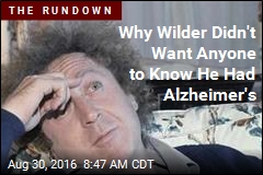 Why Wilder Didn't Want Anyone to Know He Had Alzheimer's
