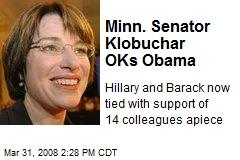 Minn. Senator Klobuchar OKs Obama