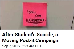 After Student's Suicide, a Moving Post-it Campaign