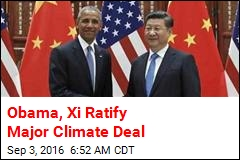 Obama, Xi Ratify for Major Climate Deal