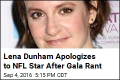 Lena Dunham Apologizes to NFL Star After Gala Rant