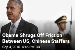 Obama Shrugs Off Friction Between US, China Staffers