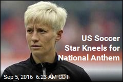 US Soccer Star Kneels for National Anthem