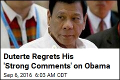 Duterte Says He Regrets Insulting Obama