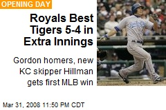 Royals Best Tigers 5-4 in Extra Innings