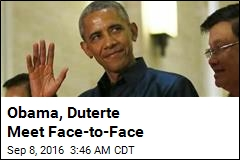 Obama, Duterte Meet Face-to-Face