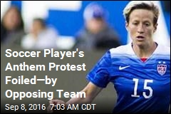 Opponent Stops Soccer Player From 'Hijacking' Game With Protest