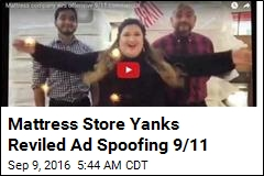 Mattress Store Yanks Ad Spoofing 9/11