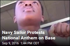 Navy Sailor Protests National Anthem on Base