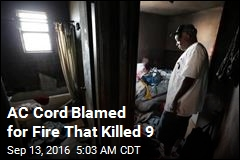 Air-Con Cord Blamed for Fire That Killed 9