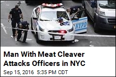 Man With Meat Cleaver Attacks Officers in NYC
