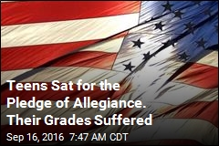 Teens Sat for the Pledge of Allegiance. Their Grades Suffered
