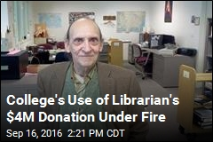 College Librarian's Donation Going to $1M Scoreboard