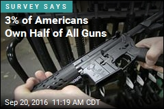 3% of Americans Own Half of All Guns