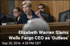 Warren: 'Gutless' Wells Fargo CEO 'Should Resign'