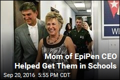 Mother of Mylan CEO Pushed for EpiPens in Schools