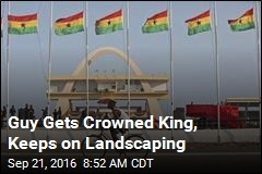 Guy Gets Crowned King, Keeps on Landscaping