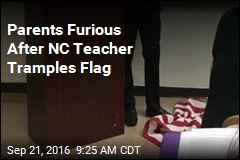 Parents Furious After NC Teacher Tramples Flag