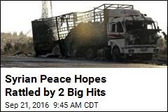 Syrian Peace Hopes Rattled by 2 Big Hits