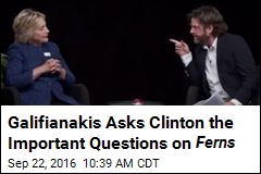 Galifianakis Asks Clinton the Important Questions on Ferns