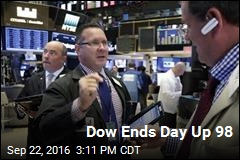 Dow Ends Day Up 98