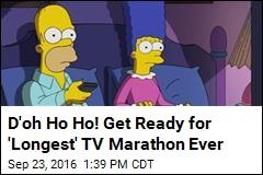 D'oh Ho Ho! Get Ready for 'Longest' TV Marathon Ever