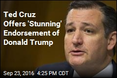 Ted Cruz Offers 'Stunning' Endorsement of Donald Trump