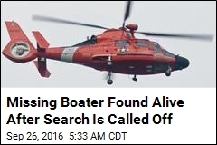 Missing Boater Found Alive After Search Is Called Off
