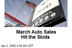 March Auto Sales Hit the Skids